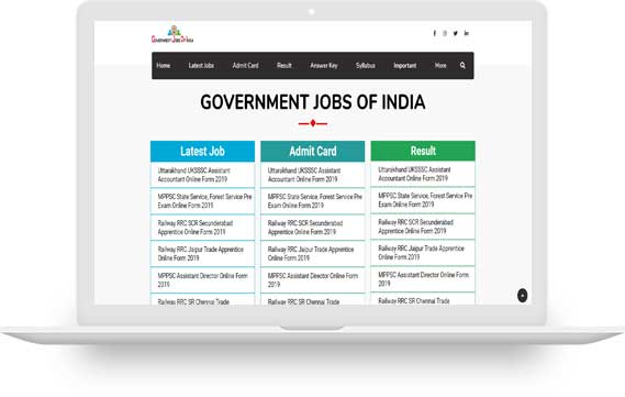 GOVERNMENT JOBS OF INDIA